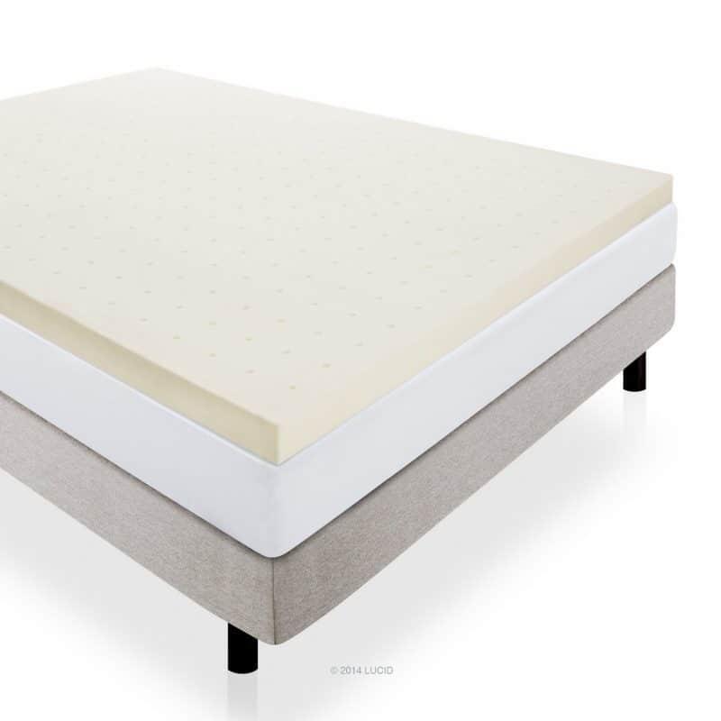 LUCID 3 Inch Ventilated Memory Foam Mattress Topper