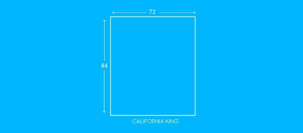 "CALIFORNIA KING, 72""W X 84""L"