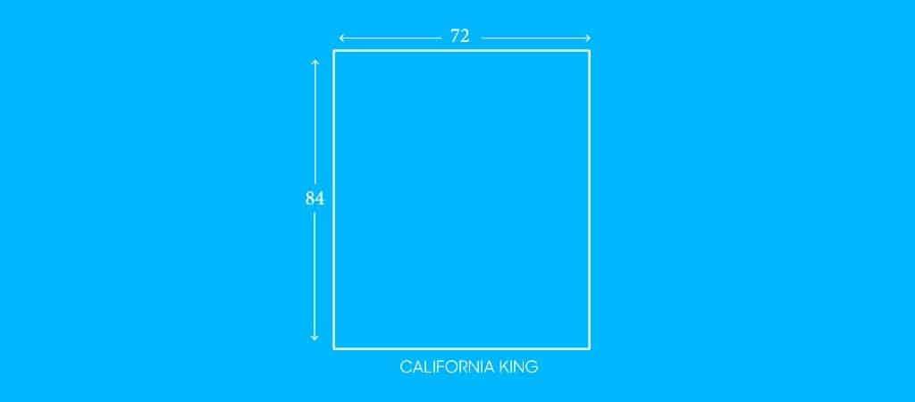 """CALIFORNIA KING, 72""""W X 84""""L"""
