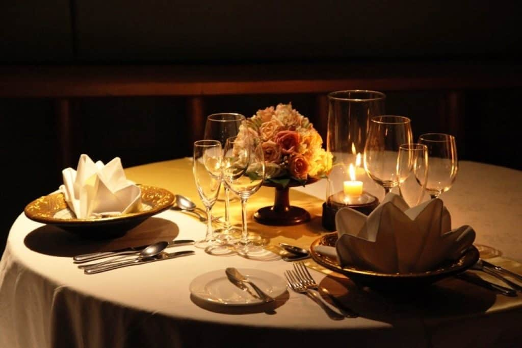 Have dinner by candle light