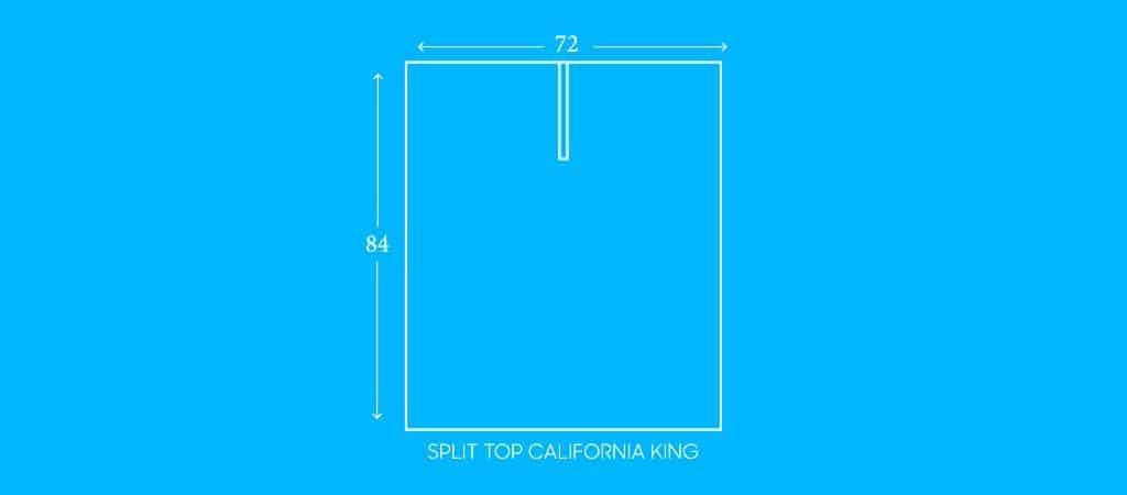 """SPLIT TOP CALIFORNIA KING, 72""""W X 84""""L"""