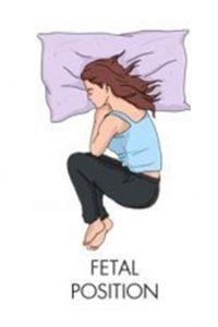 fetal position