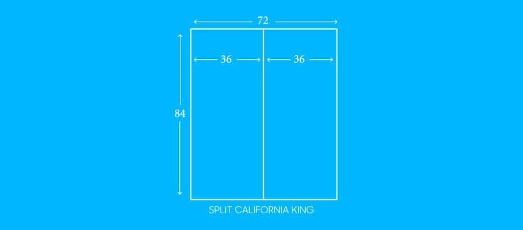 """SPLIT CALIFORNIA KING, 36""""W X 84""""L"""