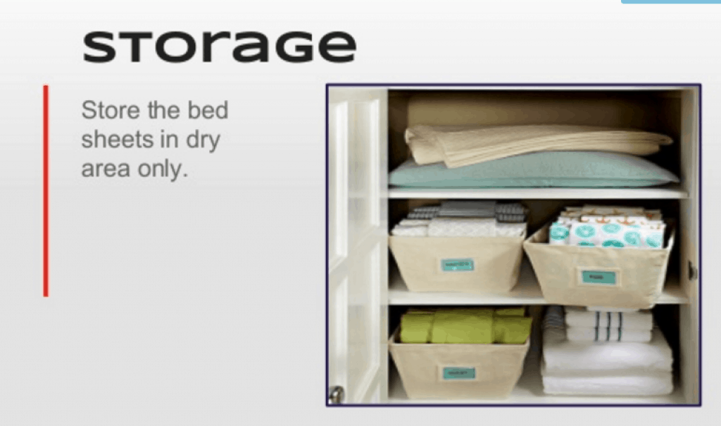 always store your organic sheet in dry area