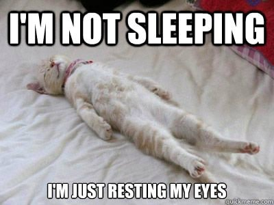 I'm not sleeping just resting my eyes