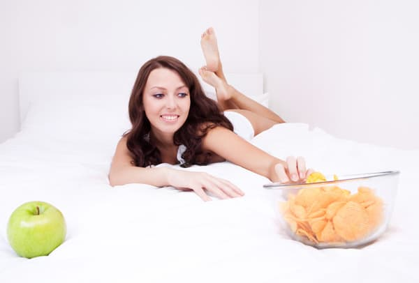 Take caution on what you eat shortly before bedtime