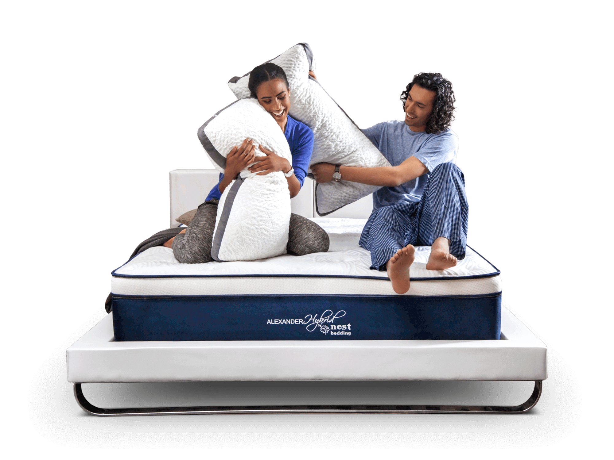 how does it feel when stand on nest bedding Alexander Signature Hybrid