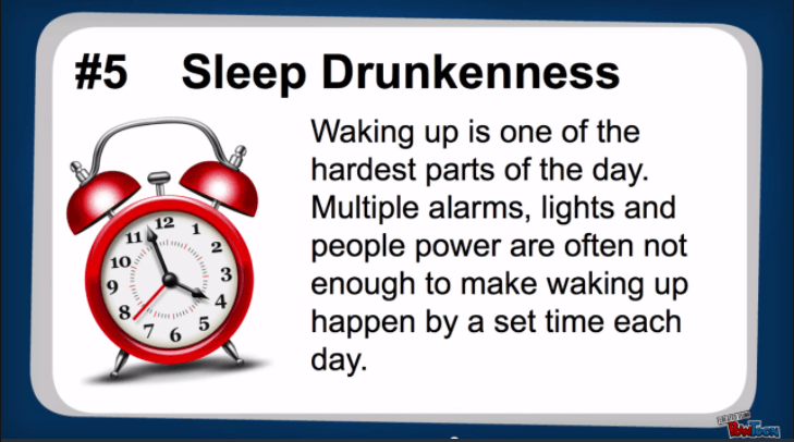 sleep drunkenness
