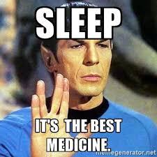sleep is the best medicine