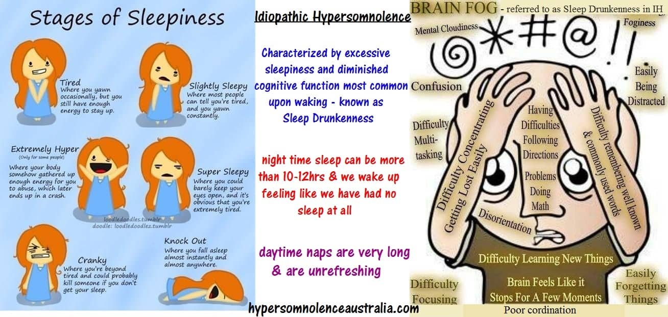 stages of sleepingness