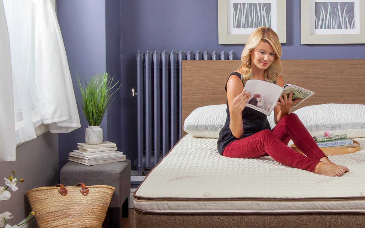 women on nest bedding