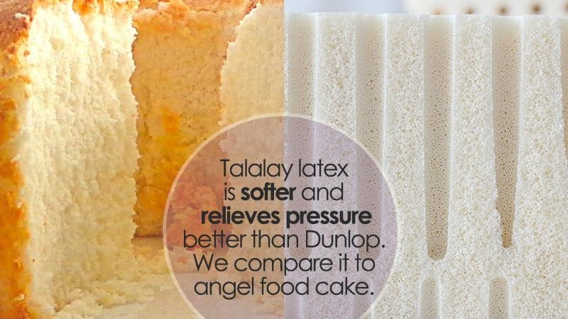 Talalay latex method features