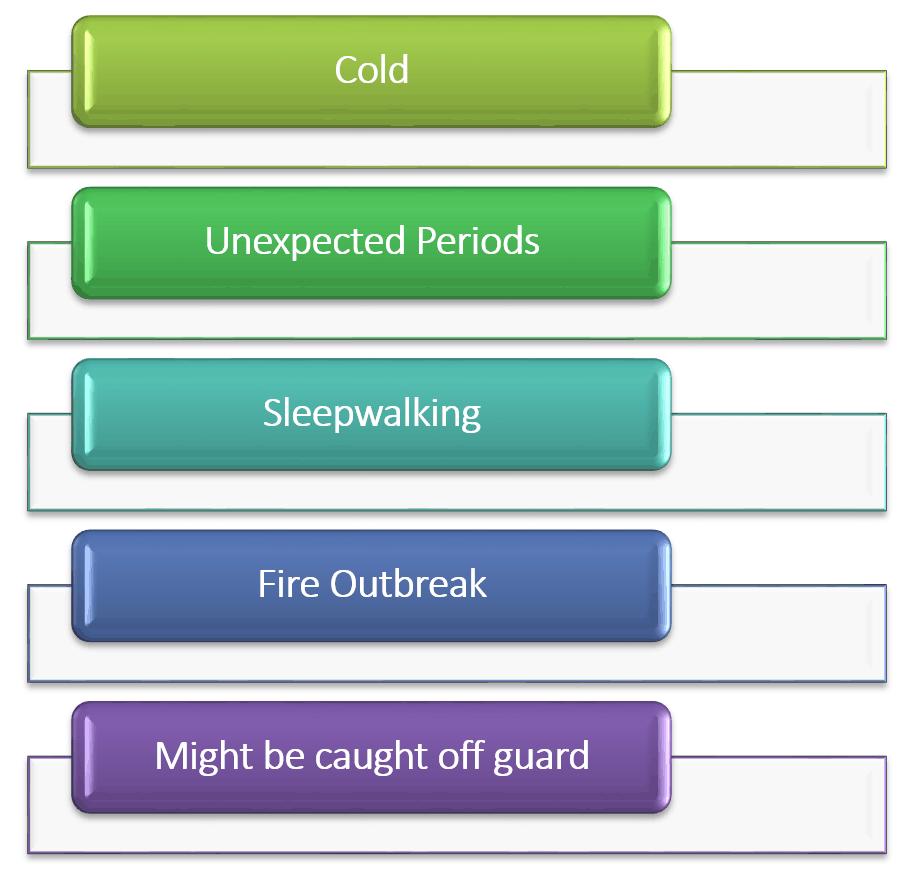 drawbacks of sleeping naked