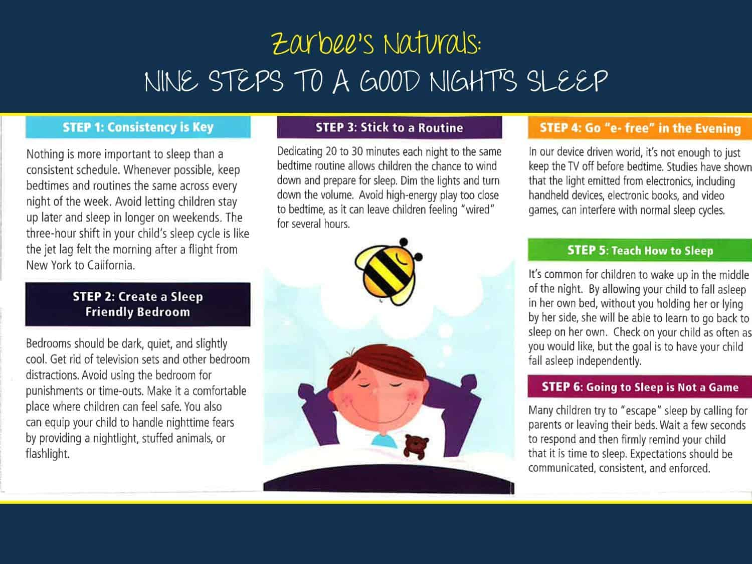 how to sleep better for kids