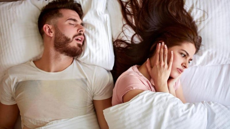 snore is usually between 30 and 100 decibels.