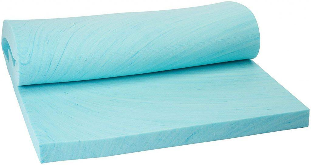 Memory Foam Solutions Twin XL Size 3 Inch Thick, Gel Swirl Visco Elastic Memory Foam Mattress Pad Bed Topper Made in the USA