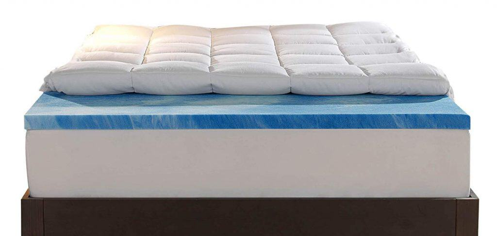 Sleep Innovations Gel Memory Foam 4-inch Dual Layer Mattress Topper