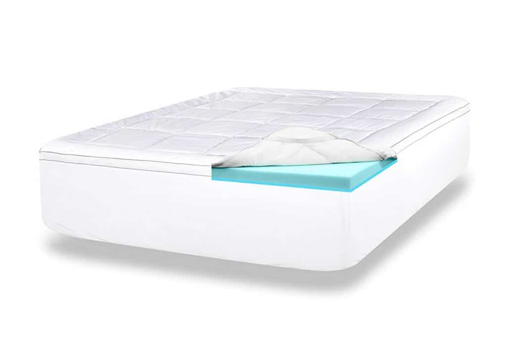 ViscoSoft 4-Inch Gel Memory Foam Mattress Topper (Twin) Luxury Dual Layer Includes Quilted