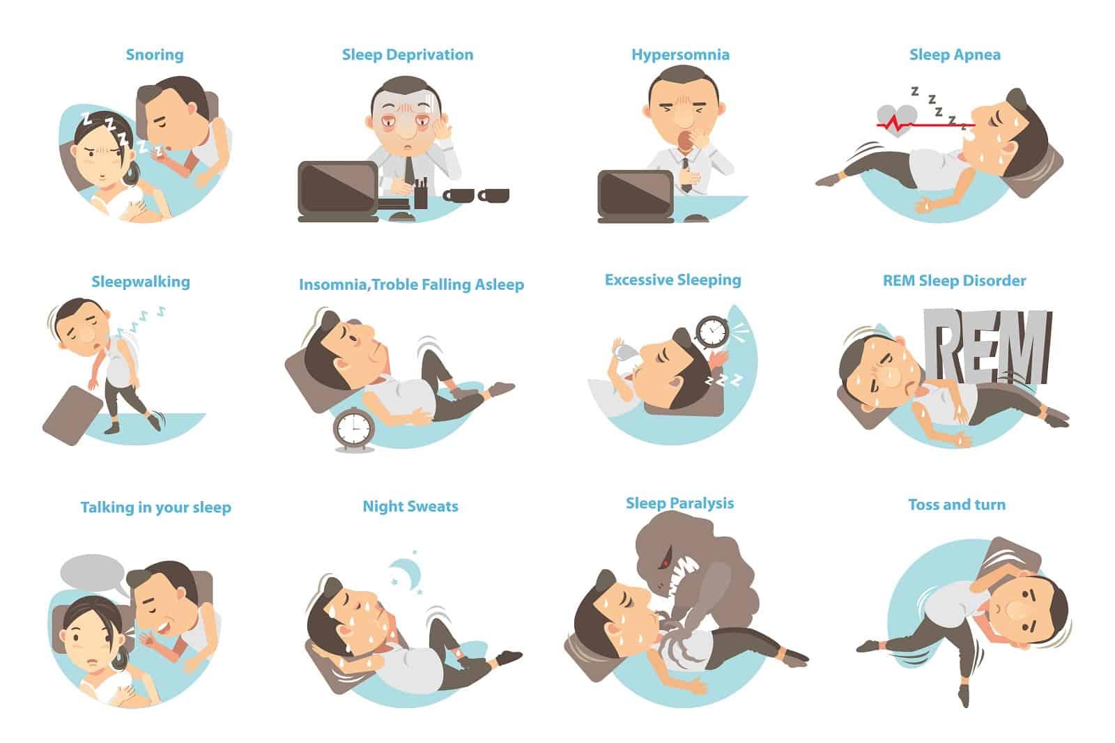 Man with sleep problems